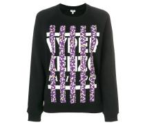 Pullover mit floralen Streifen