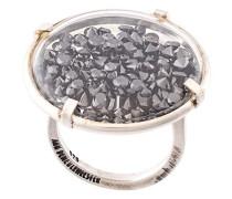 Silberring mit Diamanten
