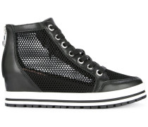 mesh concealed wedge sneakers