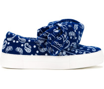 Jacquard-Sneakers mit Schleife