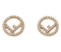 embellished logo earrings