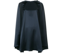 satin cape dress