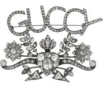 """Brosche mit """"Guccy""""-Schild"""