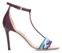Sandalen mit grafischem Print