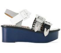 buckled platform sandals