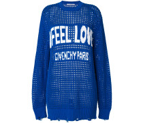 Feel Love slogan logo sweater