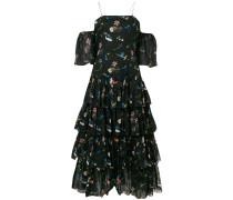 tiered print dress