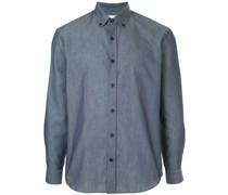 Button-down-Hemd mit abgerundetem Saum