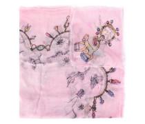 print frayed hem scarf