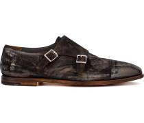 Monk-Schuhe mit eckiger Kappe