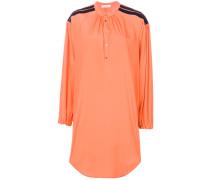 oversized mandarin collar shirt