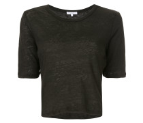 crew neck cropped T-shirt