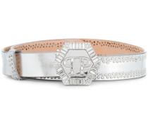 embellished logo belt