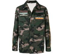 Bestickte Camouflage-Jacke