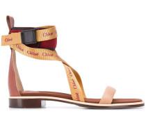 Sandalen mit Logo-Riemen