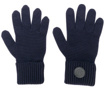 logo plaque gloves