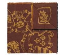Schal mit floralem Wappen-Print