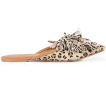 Sade cheetah print mules