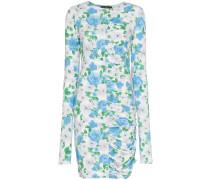 'Cocoon' Kleid mit Blumenmuster