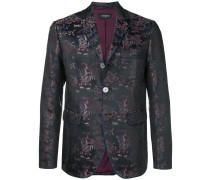 brocade fitted blazer