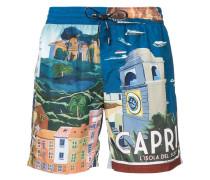Badeshorts mit Capri-Print