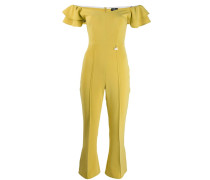 ruffle sleeve bardot jumpsuit
