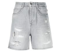 Jeans-Shorts mit Kristallen