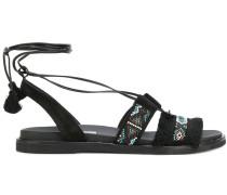 Sandalen mit Strassverzierung