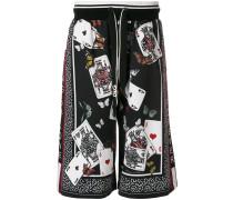 Shorts mit Spielkarten-Print