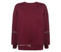 Kastiges Sweatshirt mit Reißverschlüssen