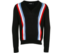 web striped cardigan