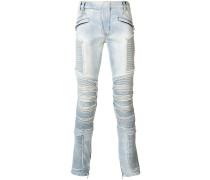 Schmale Biker-Jeans