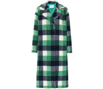 Maria faux fur checked coat