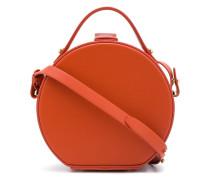 Runde Handtasche aus Leder