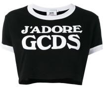 Cropped-T-Shirt mit Logo-Print