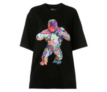 T-Shirt mit Gorilla-Print