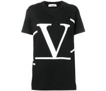 'Go' T-Shirt mit Deconstructed-Logo