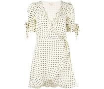 Sweetheart wrap mini dress