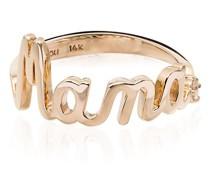 14kt 'Mama' Gelbgoldring
