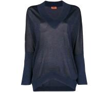 Lurex-Pullover mit V-Ausschnitt