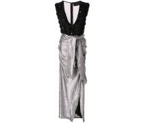 Verziertes Kleid mit tiefem Ausschnitt