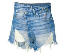 Jeansshorts mit asymmetrischem Bund