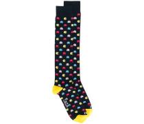 Socken mit Pac-Man-Muster