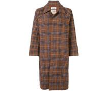 Karierter Tweed-Mantel