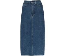 Jeans-Midirock mit Schlitzen