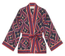 Kimono mit Bänder-Print