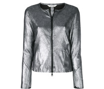 Jacke in Metallic-Optik