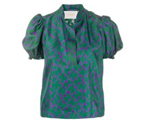 Bluse mit Schmetterlings-Print
