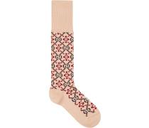 Socken mit Monogrammmuster