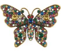Brosche mit Kristall-Schmetterling